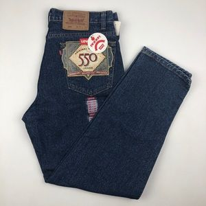 NWT Vintage Levi's 550 Blue Jeans Relaxed Fit